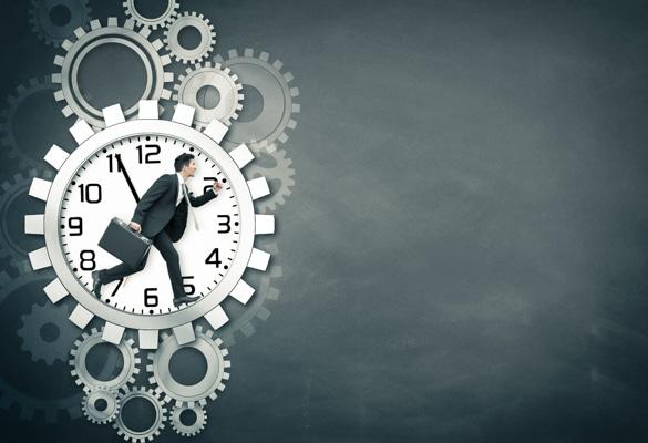 Hamsterrad Uhr